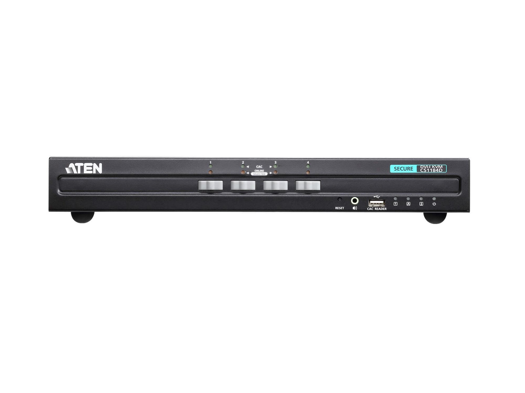Aten CS1184D 4-Port USB DVI Secure KVM Switch (PSS PP v3.0 Compliant)