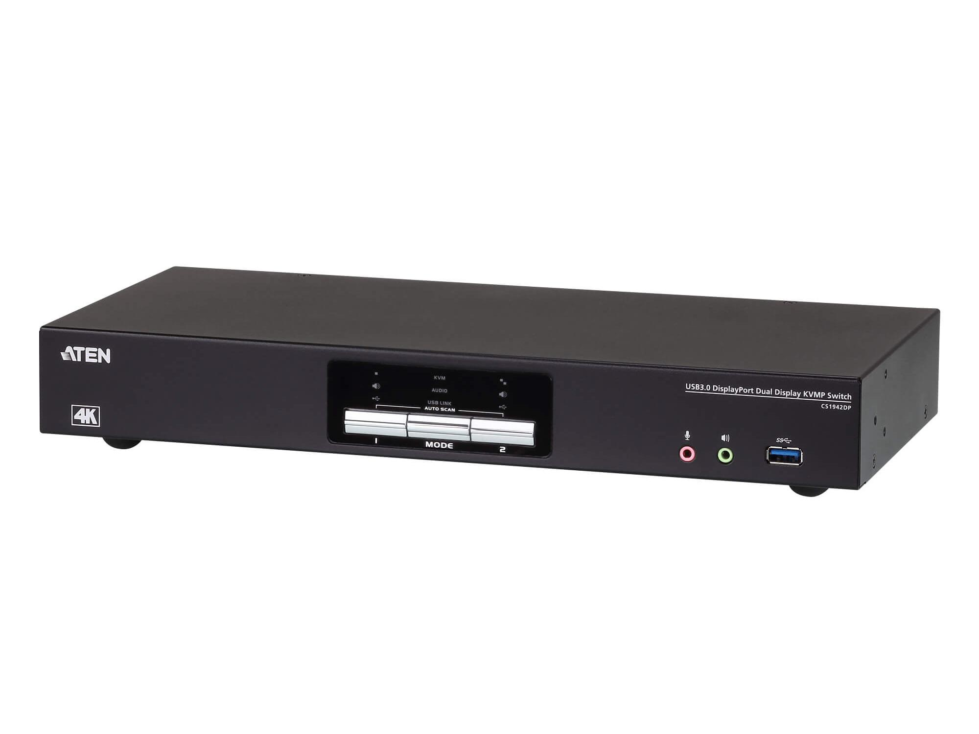 Aten CS1942DP 2-Port USB 3.0 4K DisplayPort Dual Display KVMP Switch