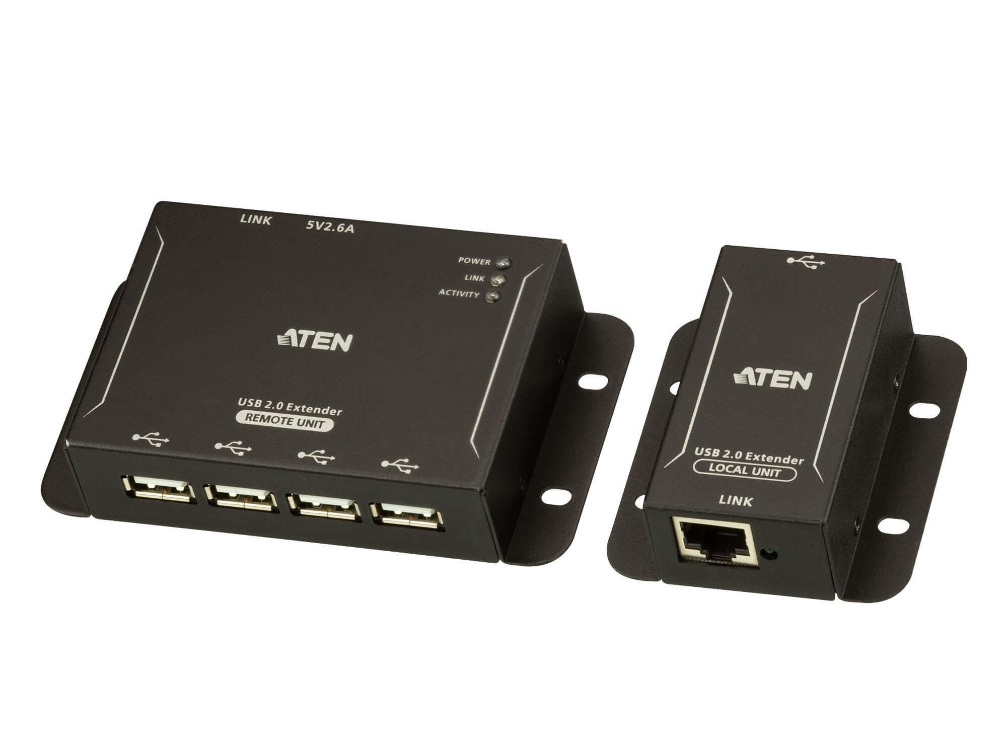 Aten UCE3250 4-port USB 2.0 CAT 5 Extender (Transmitter/Receiver) Set/up to 50m