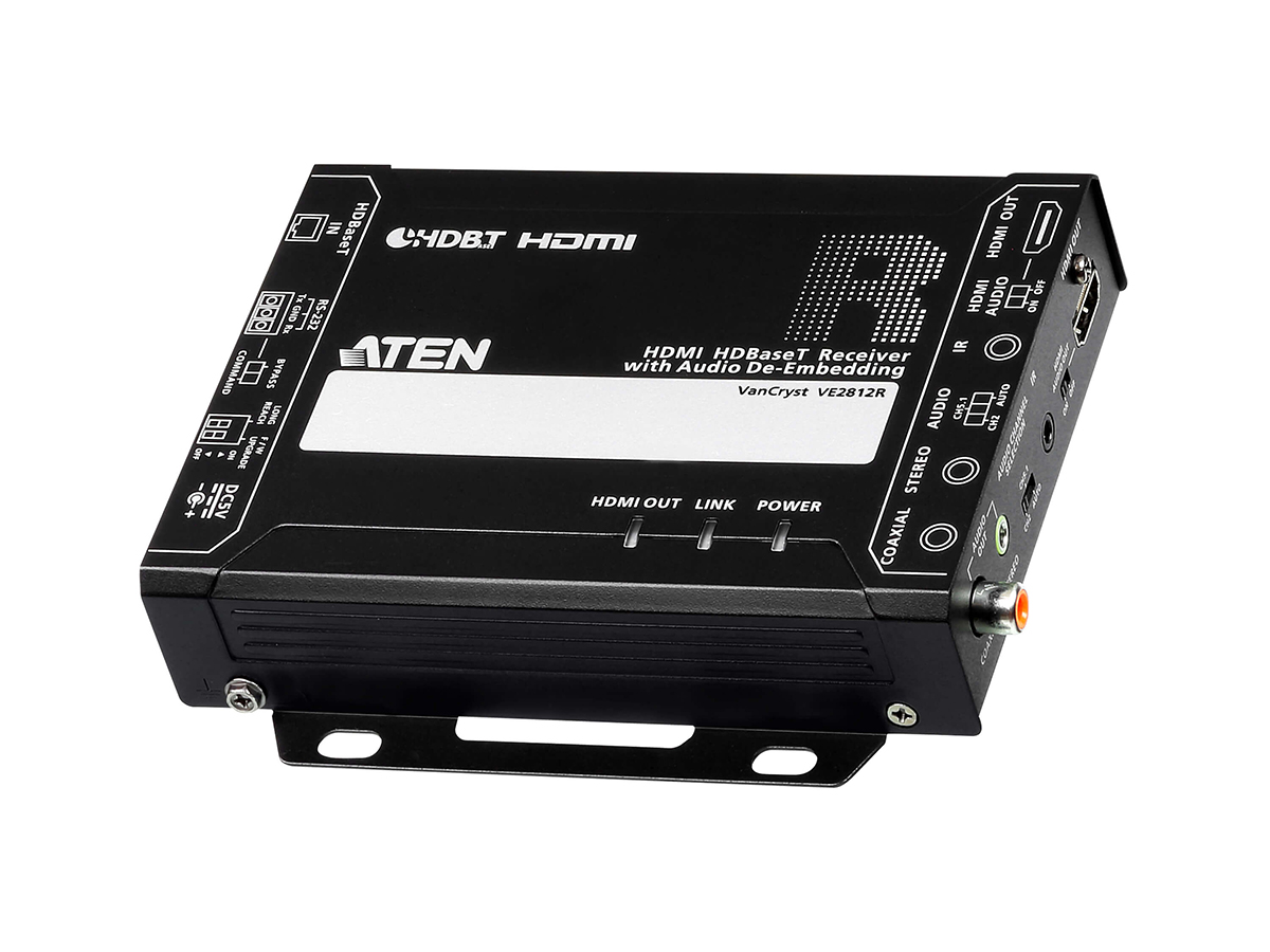 Aten VE2812R 4K HDMI HDBaseT Extender (Receiver) with Audio De-Embedding up to 100m