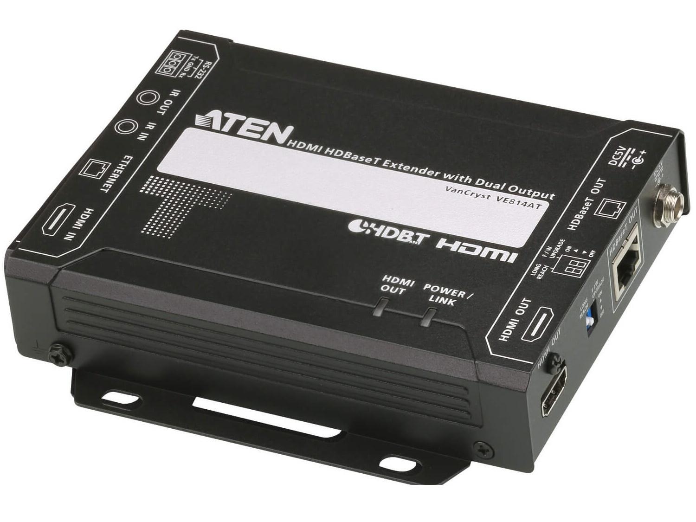 Aten VE814AT HDMI HDBaseT Class A Extender (Transmitter) with Dual Output (4K/100m)