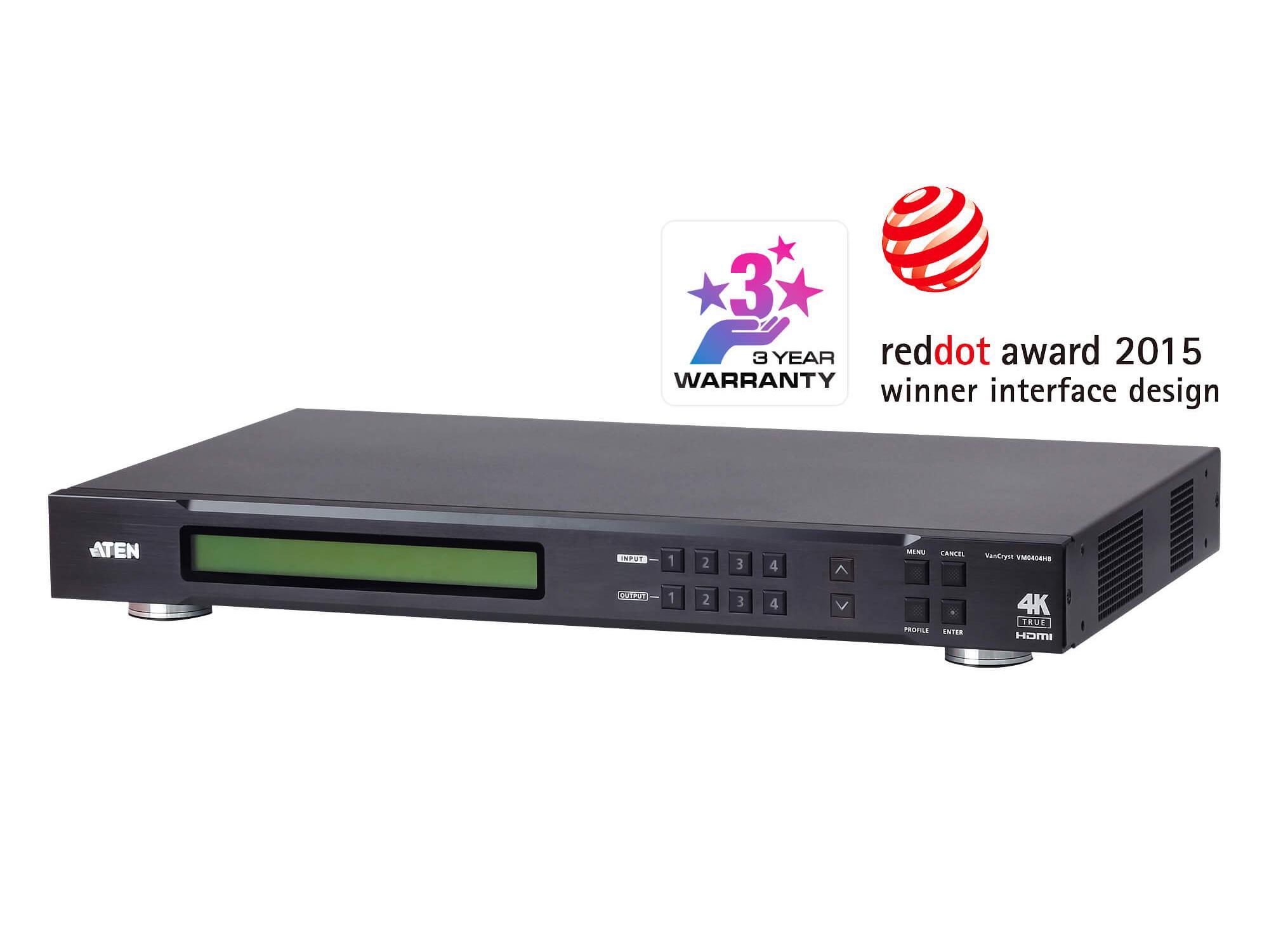 Aten VM0404HB 4x4 True 4K HDMI Matrix Switch