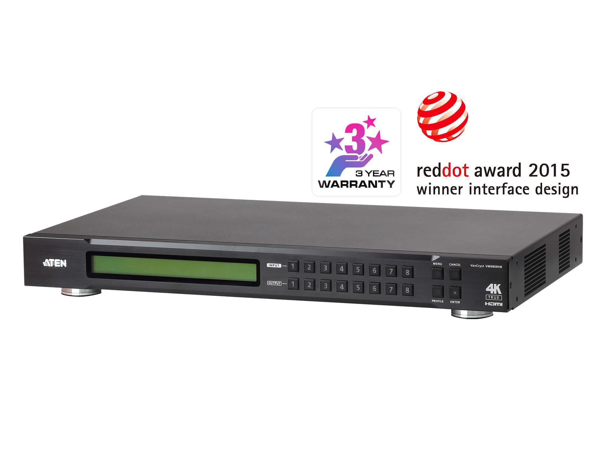 Aten VM0808HB 8x8 True 4K HDMI Matrix Switch