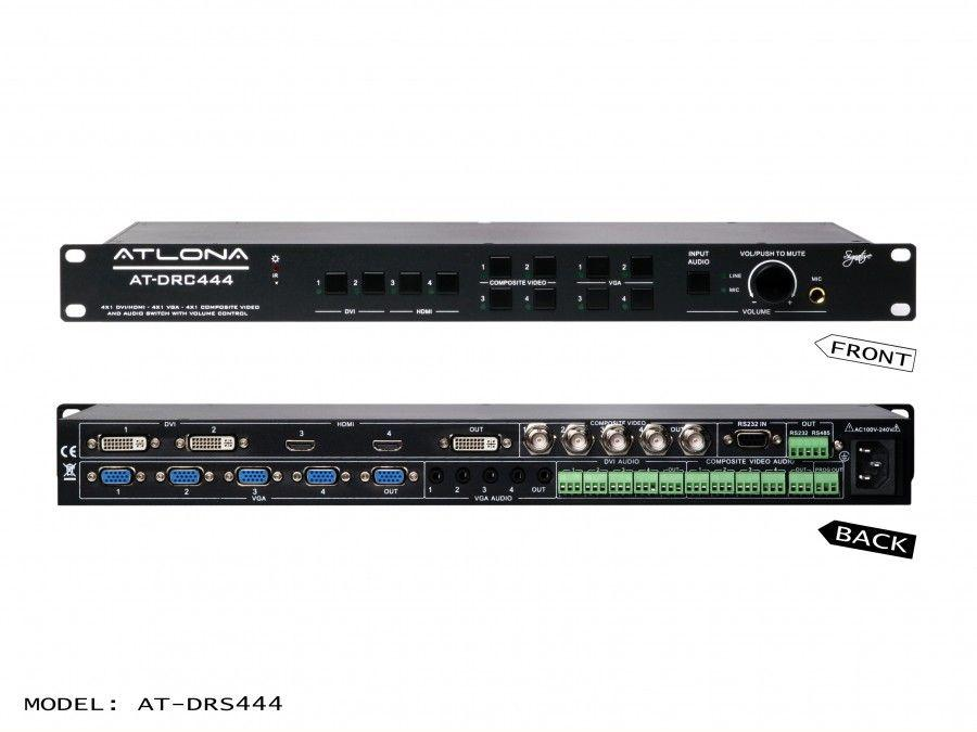 Atlona AT-DRC444 DVI/HDMI/VGA Multi-Input Presentation Switcher