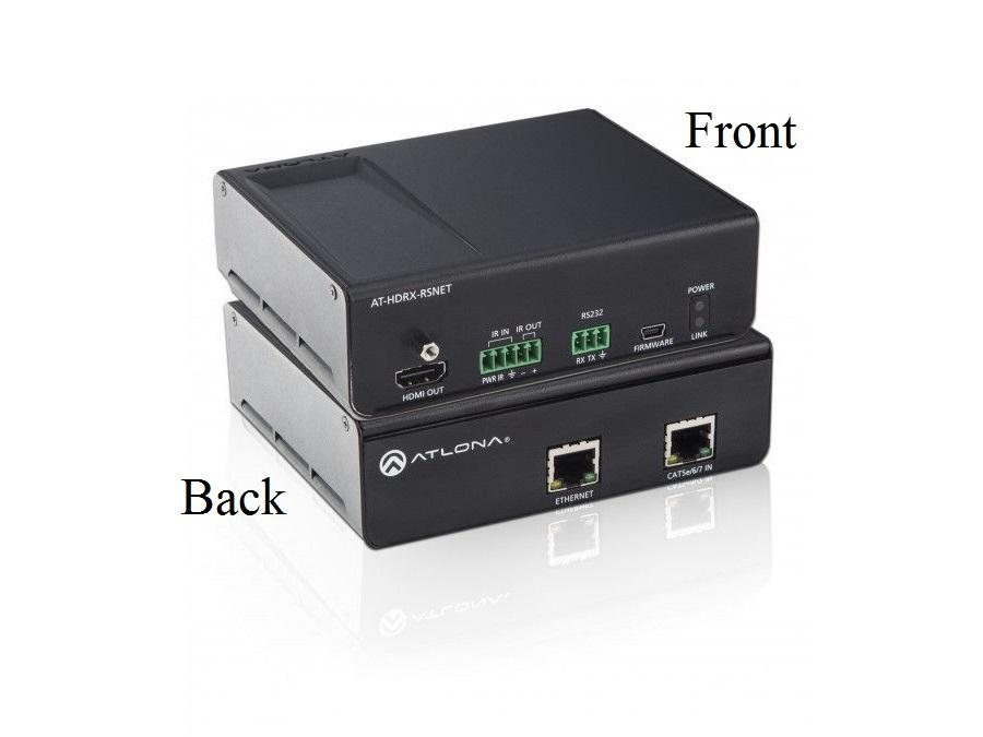 Atlona AT-HDRX-RSNET-b HDMI Extender (Receiver) CAT5e/6/7 with IR/RS-232/NET