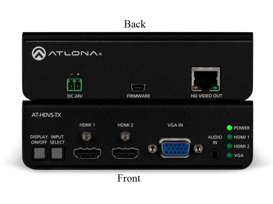 Atlona AT-HDVS-TX Dual HDMI and VGA/Audio to HDBaseT Switcher/Extender (Transmitter) 4K