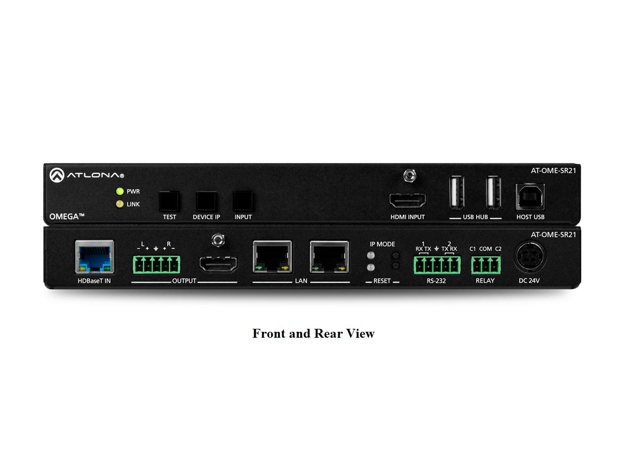 Atlona AT-OME-SR21 Omega 4K/UHD Scaler for HDBaseT and HDMI with USB