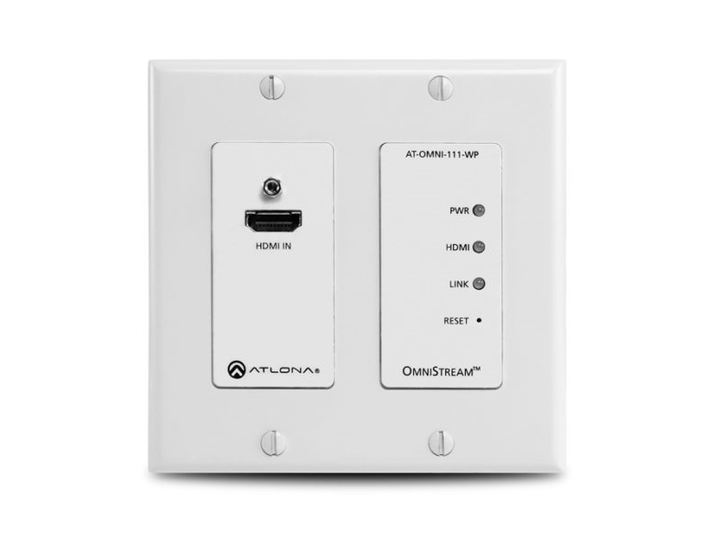 Atlona AT-OMNI-111-WP OmniStream 111 WP Wallplate Networked AV Encoder