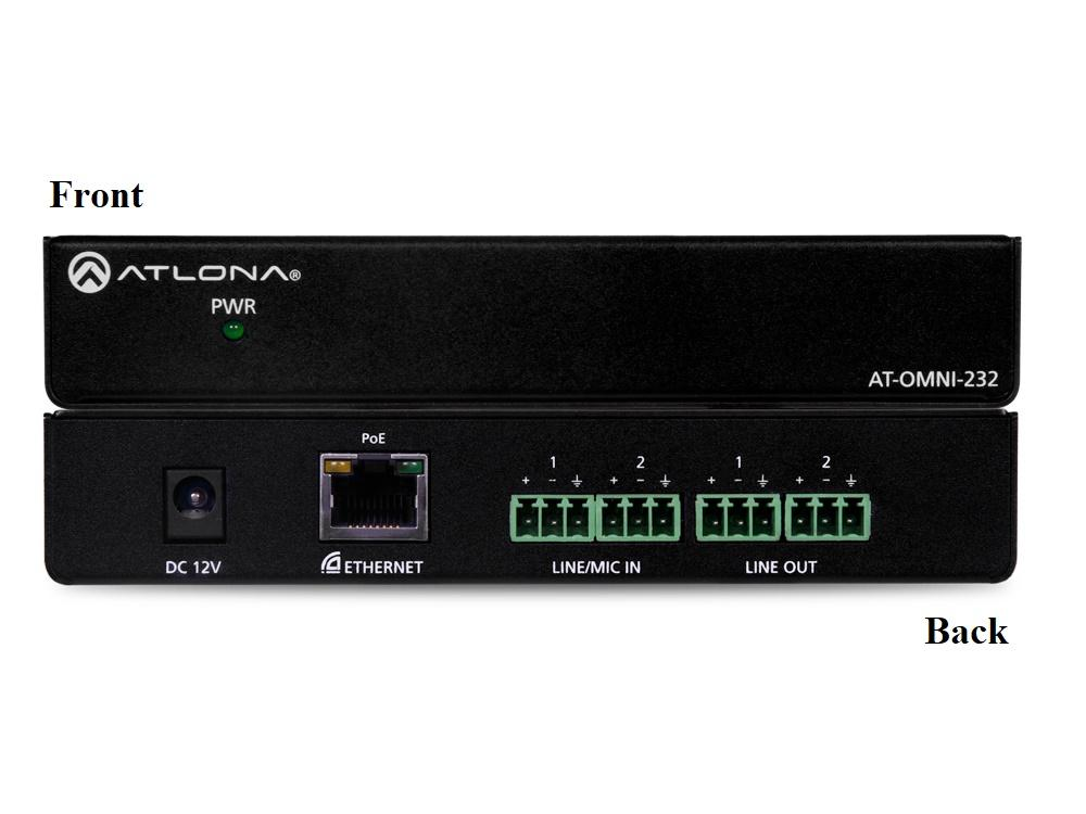 Atlona AT-OMNI-232 OmniStream Dual-Channel Dante Networked Audio Interface