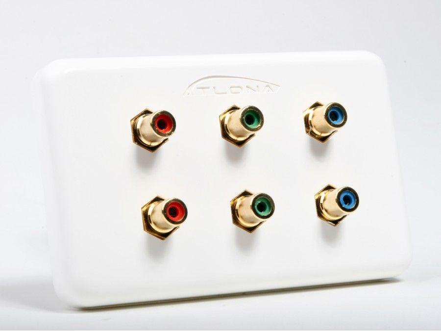 Atlona AT80COMP6 Dual Component Video Wall Plate