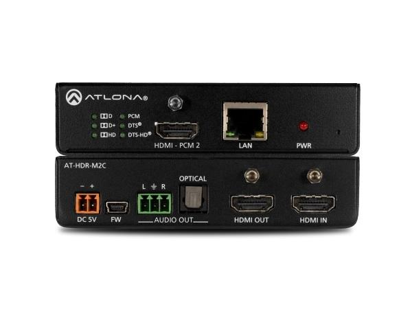 Atlona AT-HDR-M2C-b 4K HDR Multi-Channel Digital to Two-Channel Audio Converter