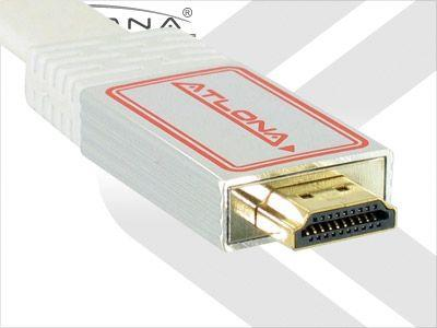Atlona ATF14031WL-10 10m/33ft Atlona Flat HDMI Cable/HDMI 1.3/White