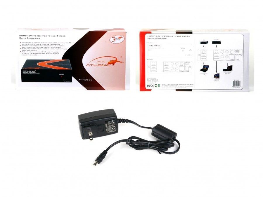 Atlona AT-HD530-b HDMI/DVI to Composite and S-Video Down-Converter