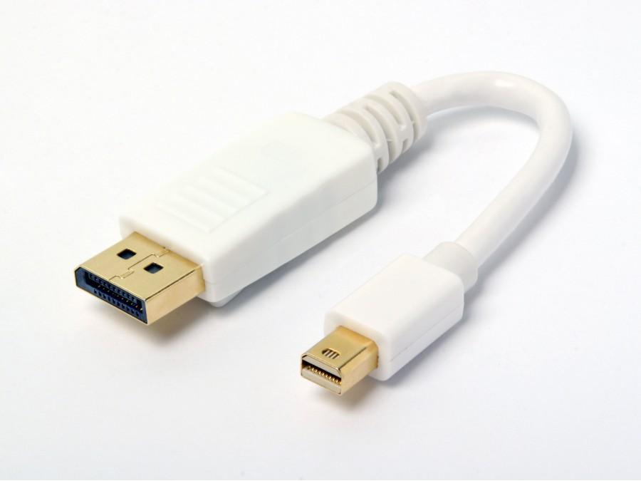 Atlona AT13021-AD 6 inch Male DisplayPort to Male Mini DisplayPort