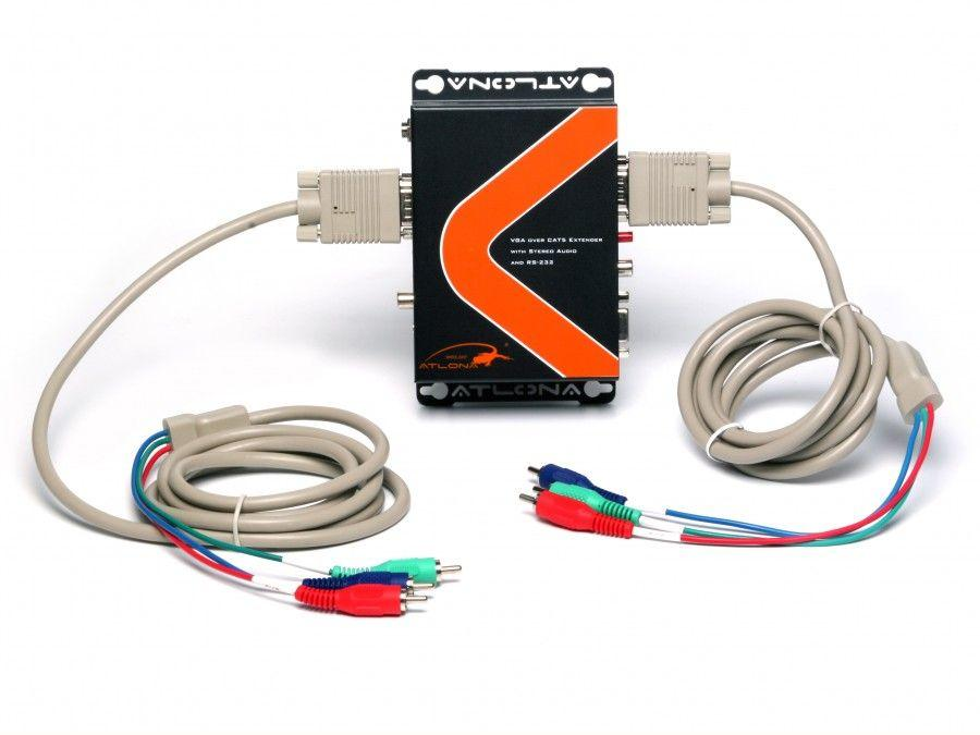 Atlona AT-COMP-RS300SRS COMPONENT VIDEO WITH DIGITAL/ANALOG AUDIO, RS232 AND IR EXTENDER OVER SINGLE CAT5/6 UP TO 1000 FT. (SENDER