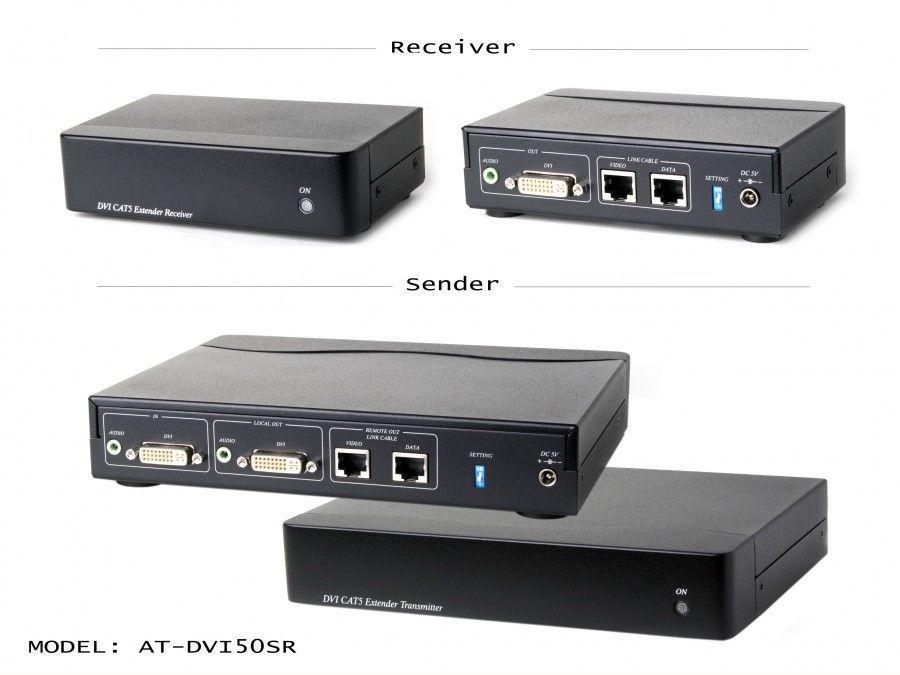 Atlona AT-DVI50SR DVI CAT5 Extender with loop out ( sender/receiver )