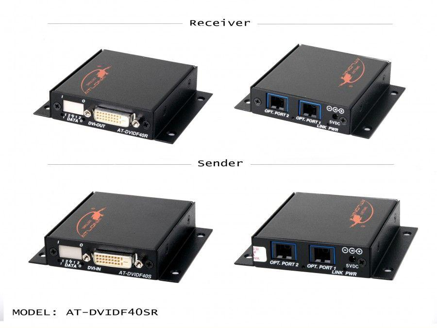 Atlona AT-DVIDF40SR DVI Dual Link Extender (Transmitter/Receiver) Kit over 2x MM Fiber