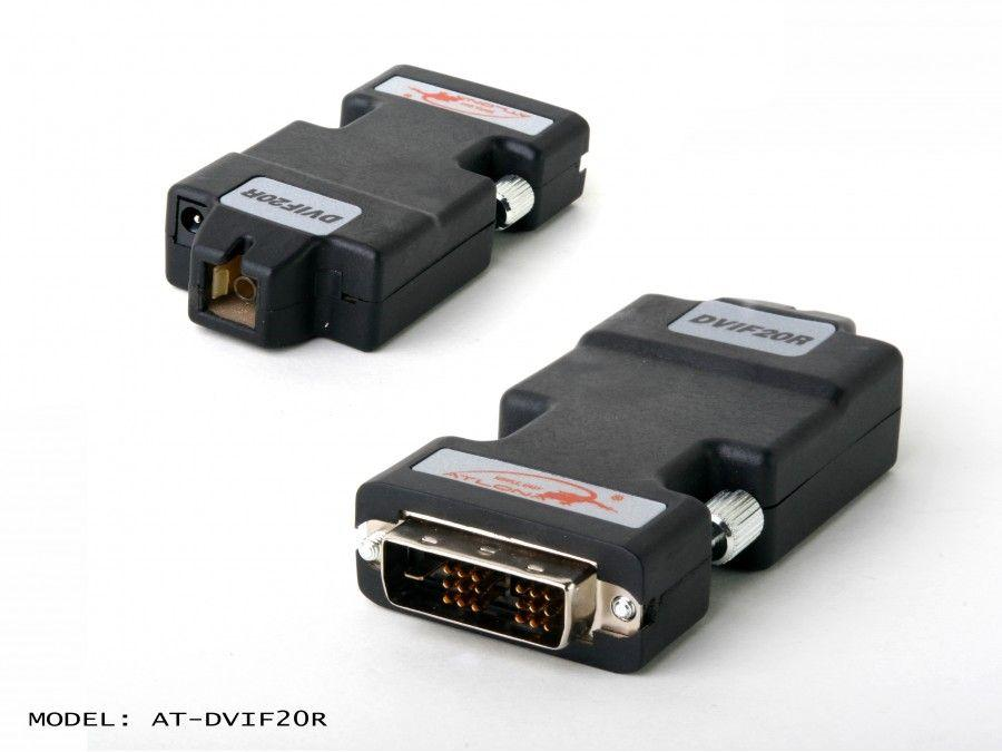 Atlona AT-DVIF20R miniature DVI Receiver over single Multi Mode Fiber with HDCP and EDID Support