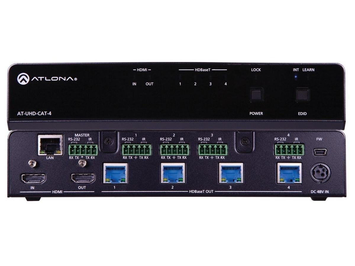Atlona AT-UHD-CAT-4 4K/UHD 4-Out HDMI to HDBaseT Distribution Amplifier