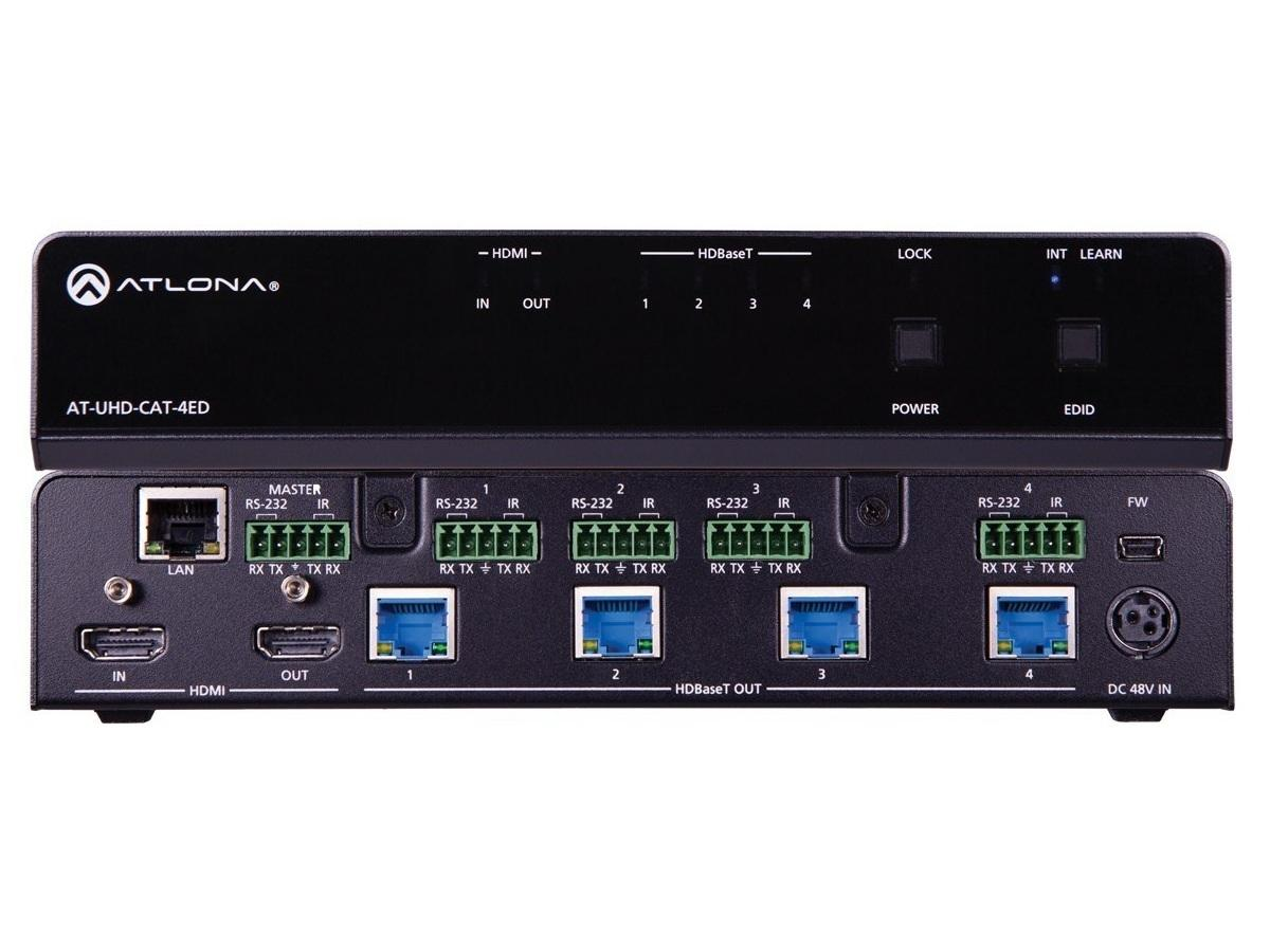 Atlona AT-UHD-CAT-4ED 4K/UHD 4 Out HDMI to HDBaseT Distribution Amplifier/ED