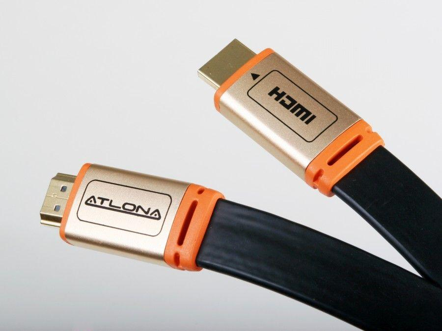 Atlona ATF14032B-5 15ft Flat HDMI 1.4 1080p UHD 4K Cable Black - Ethernet/ARC/3D/CL3 Rated