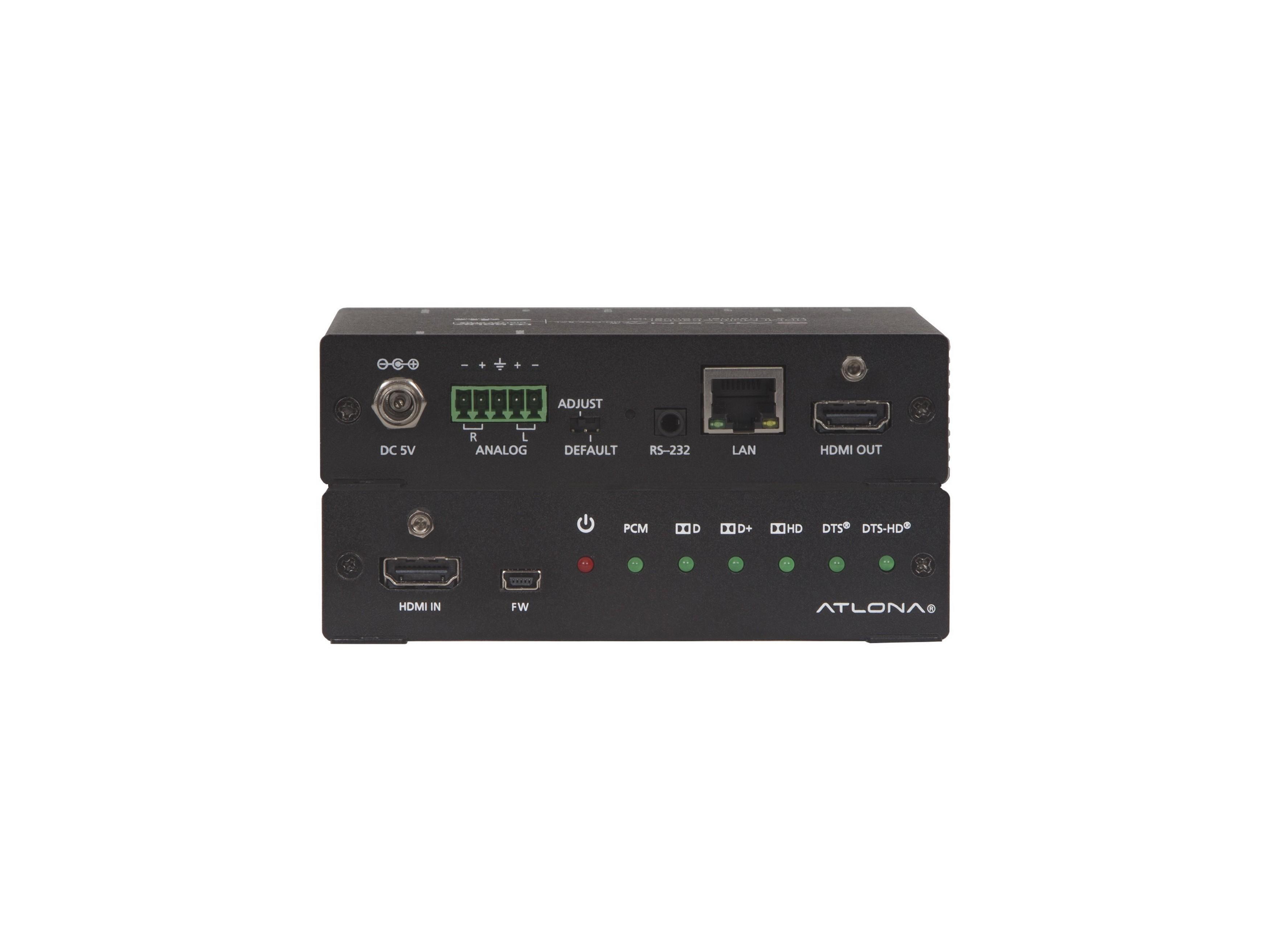 Atlona AT-UHD-M2C-BAL 4K/UHD HDMI Multi-Channel Digital to Two-Channel  Balanced Analog Audio Converter