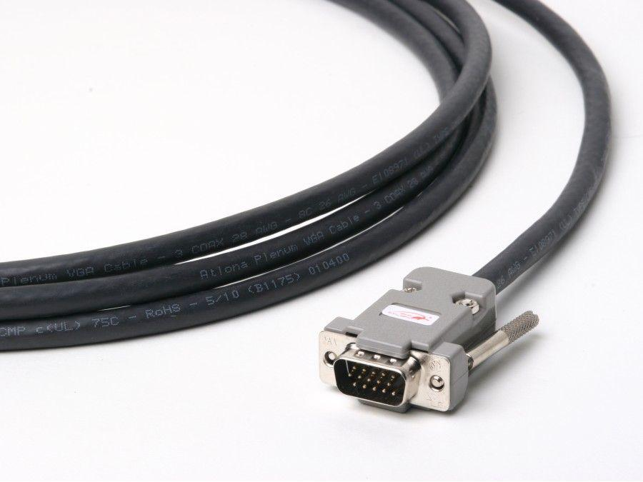 Atlona ATP-18009L-23 75ft Plenum VGA (HD15) Male/Male Cable (up to QXGA 2048x1536)