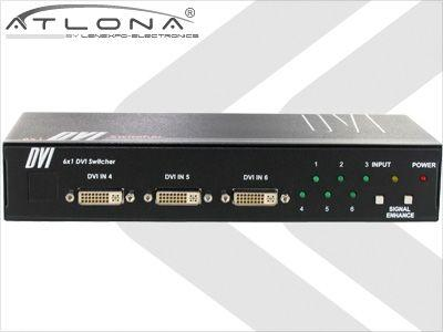Atlona AT-DVI61 6:1 ATLONA DVI SWITCH ( W/ REMOTE CONTROL )