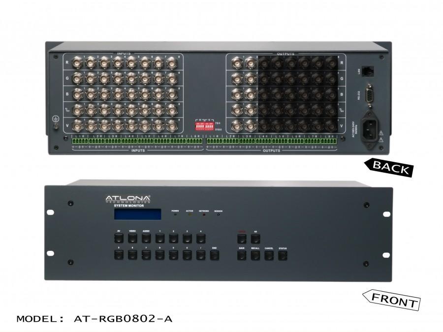 Atlona AT-RGB0802-A Atlona 8x2 Professional RGBHV with Audio Matrix Switch