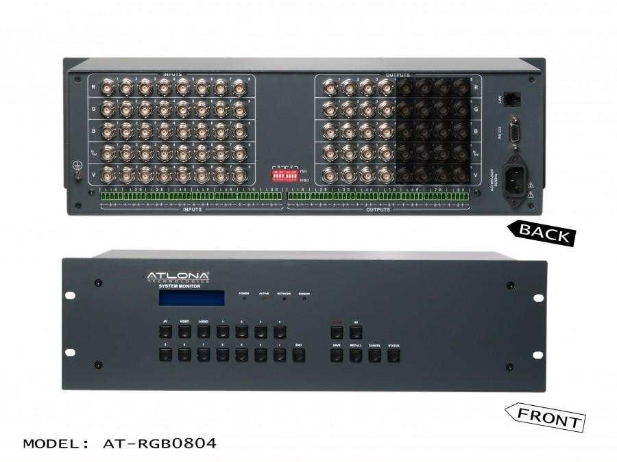 Atlona AT-RGB0804 Atlona 8x4 Professional RGBHV Matrix Switch