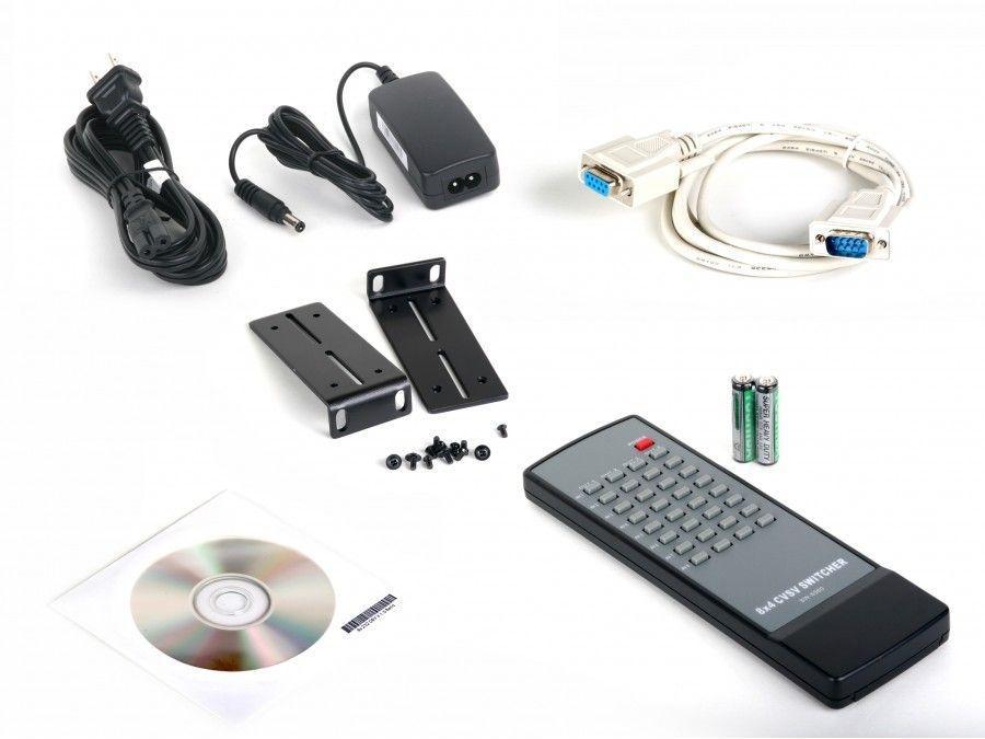 Atlona AT-SAV-84M 8x4 Composite Video/S-Video and Analog Audio Professional Matrix Switcher