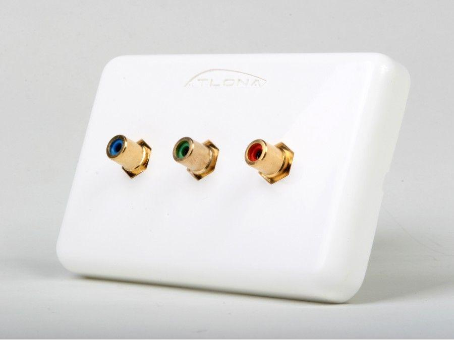 Atlona AT80COMP3 (3-Rca) Component Video Wall Plate