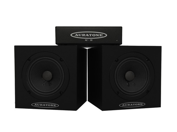 Auratone 5C Black with Amp Super Sound Cube/Passive Monitor/80-15000 Hz/Black (Pair) with A2-30 Amplifier