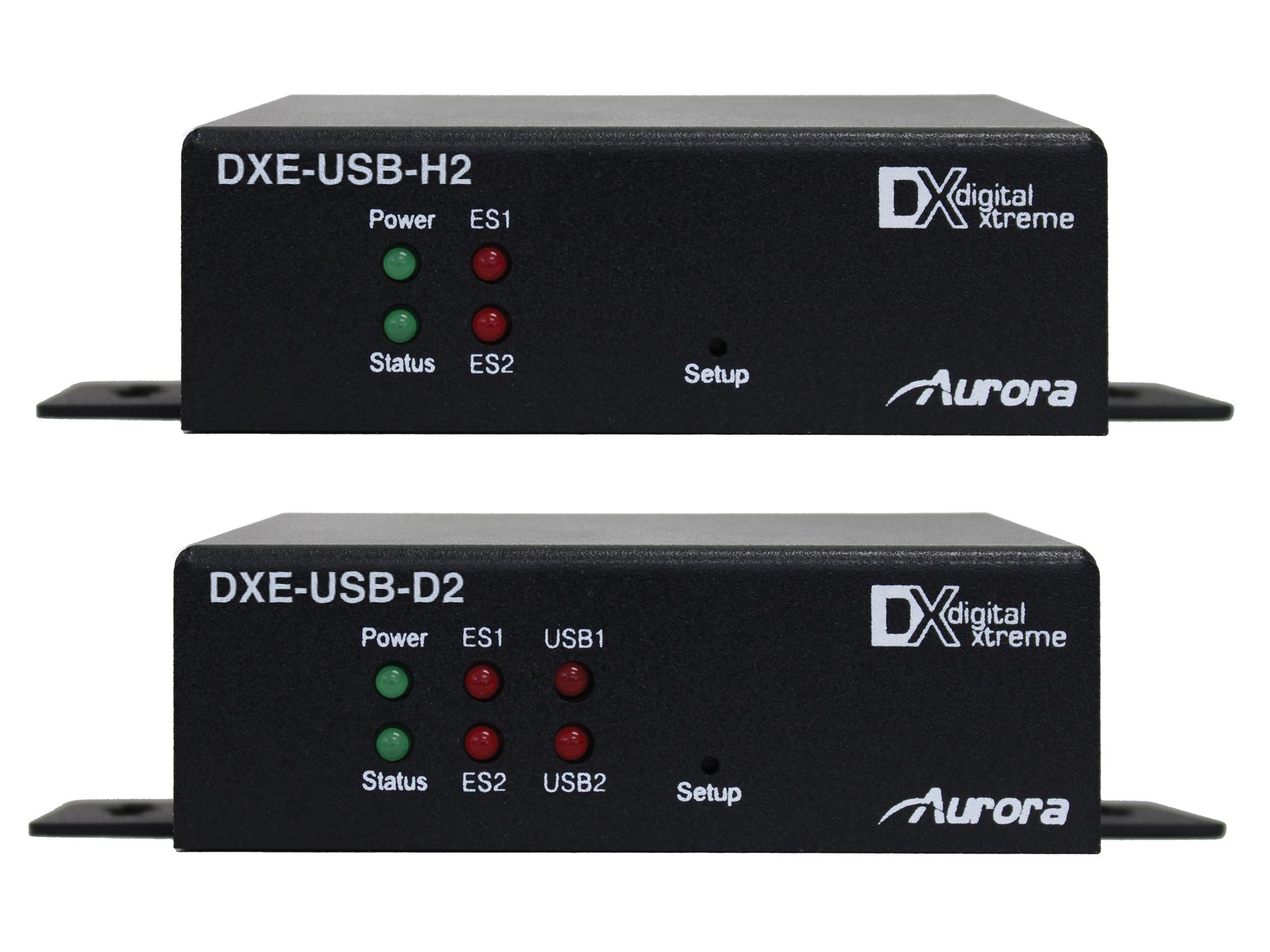 Aurora Multimedia DXE-USB-S2 480Mb USB 2.0/HDBaseT Extender (Transmitter/Receiver) Kit over CAT6 STP up to 220ft