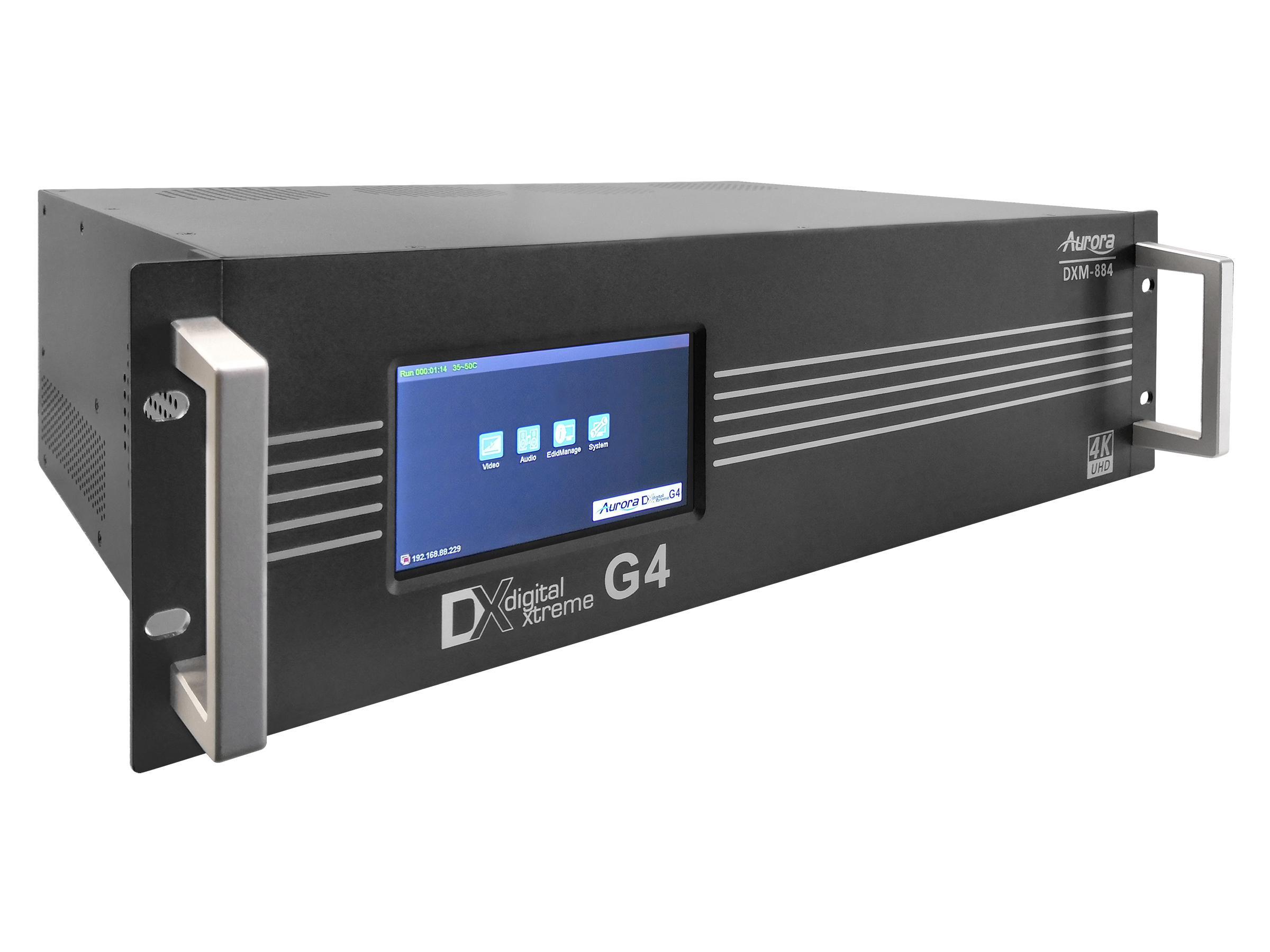 Aurora Multimedia DXM-884-G4 4K60 Modular 8x8 Matrix Switch