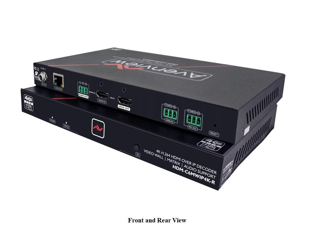 Avenview HDM-C6MWIP4K-R HDMI 4K over IP Extender (Receiver) with Matrix and Video Wall Mode