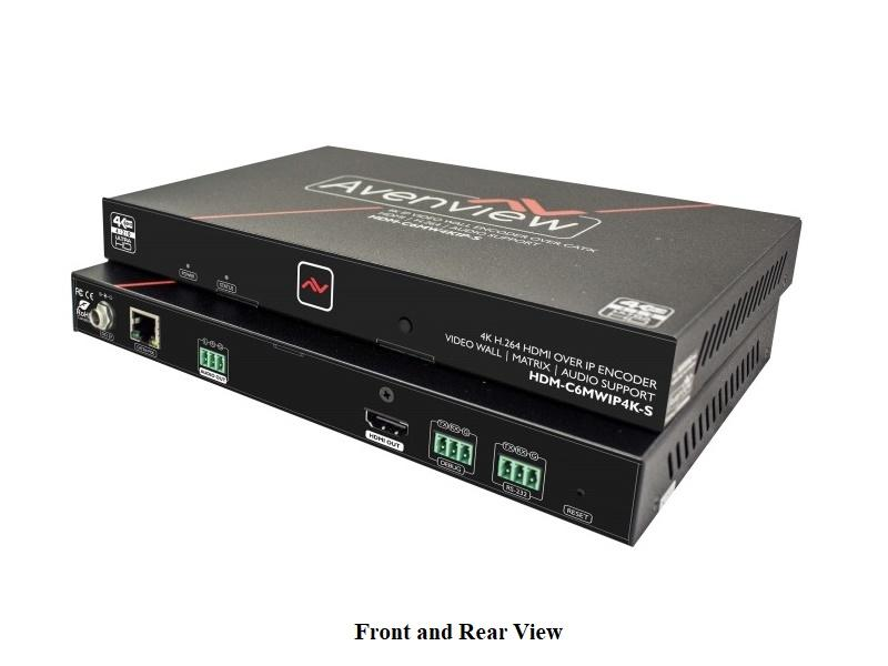 Avenview HDM-C6MWIP4K-S HDMI 4K over IP Extender (Transmitter) with Matrix and Video Wall Mode