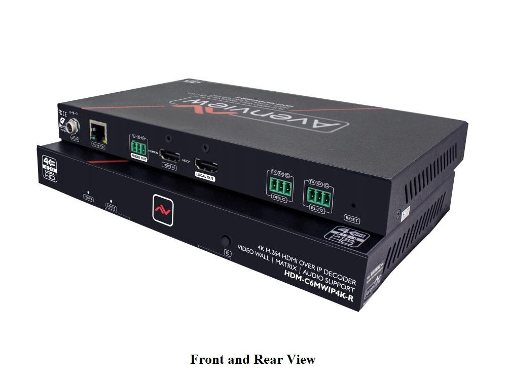 Avenview HDM-C6MWIP4K-SET HDMI 4K over IP Extender (Transmitter/Receiver) Set with Matrix and Video Wall Mode