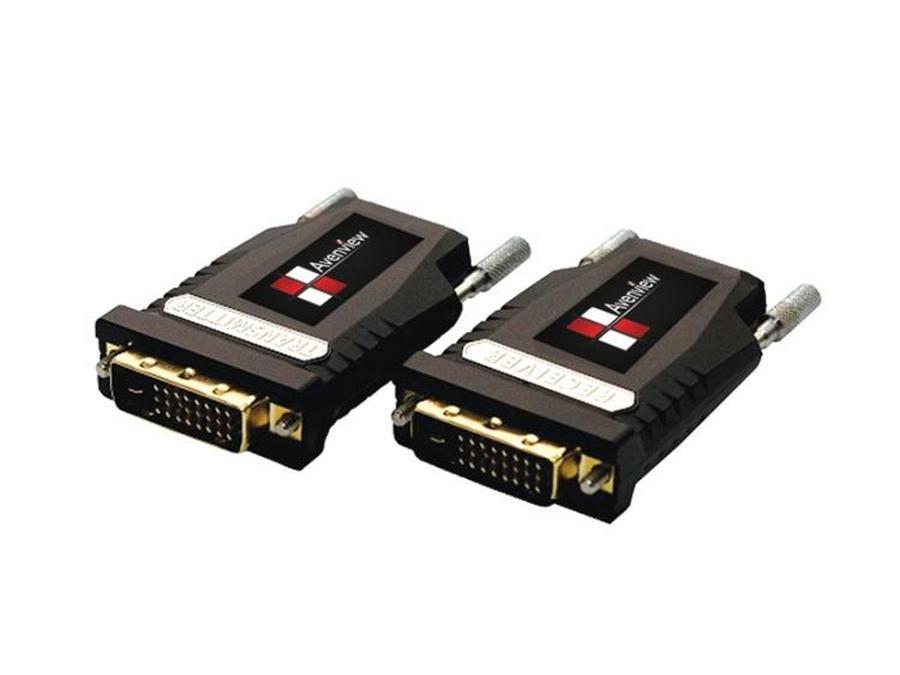 Avenview FO-DVI-1000M-EMIX DVI Extender(Transmitter/Receiver) Set over Fiber with EDID