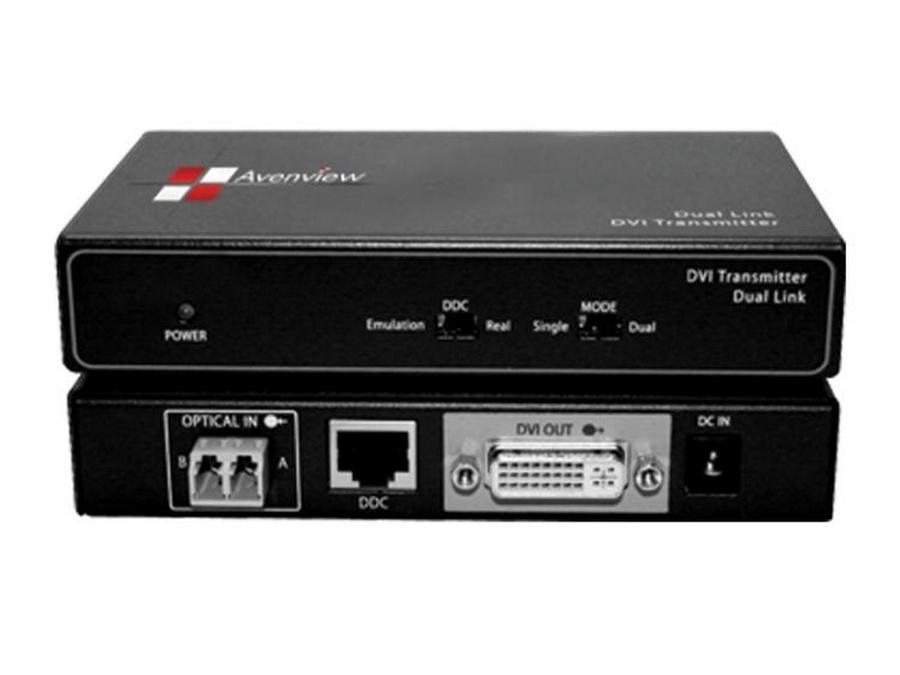 Avenview FO-DVI-DL-330X Dual Link DVI Extender(Transmitter/Receiver) Set over 2 LC Fiber Cable