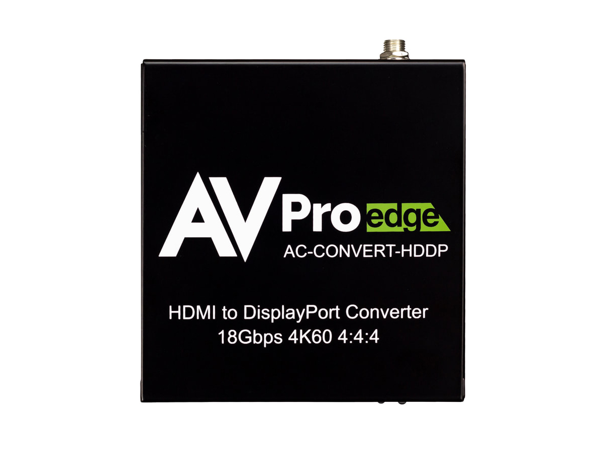 AVPro Edge AC-CONVERT-HDDP 4K60 18Gbps 1x2 HDMI to Displayport Converter and Distribution Amplifier