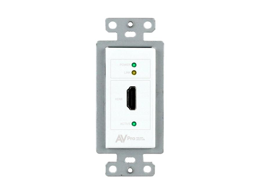 AVPro Edge AC-CXWP-HDMO-T 4K HDMI/HDBaseT Single Gang Decora Wall Plate Extender (Transmitter)/White