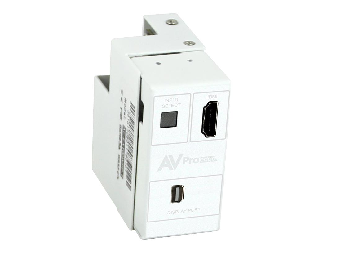 AVPro Edge AC-CXWP-MDP-T 4K Mini DP/HDMI/HDBaseT Single Gang Decora Wall Plate Extender (Transmitter)/White