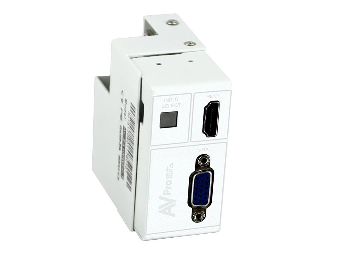 AVPro Edge AC-CXWP-VGA-T 4K VGA/HDMI/HDBaseT Single Gang Decora Style Wall Plate Extender (Transmitter)/White