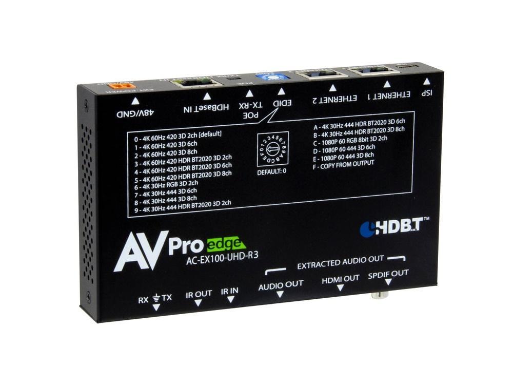 AVPro Edge AC-EX100-UHD-R3 100m BAE HDMI Extender (Receiver) via HDBaseT with Bi-Directional Power