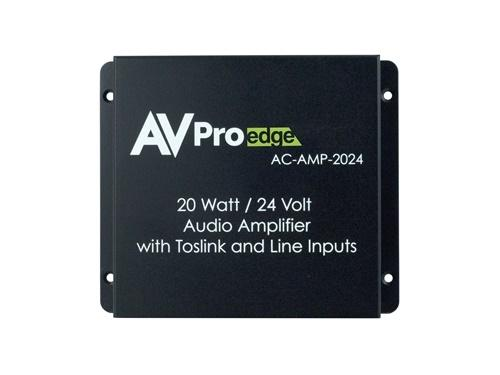 AVPro Edge AC-AMP-2024 20W/24V Digital/Analog Stereo Audio Amplifier with Toslink and Line Inputs