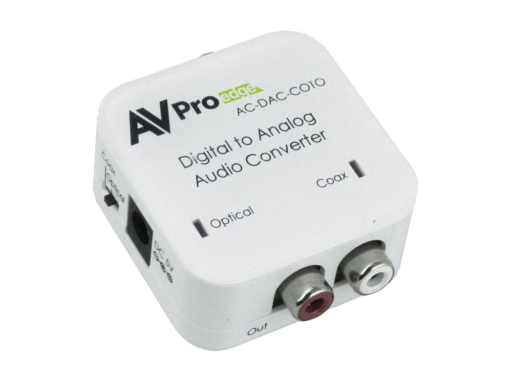 AVPro Edge AC-DAC-COTO Digital to Analog AudioConverter