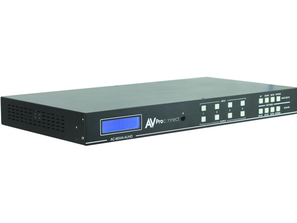 AVPro Edge AC-MX44-AUHD 18Gbps True 4K/60 AUHD 4x4 Matrix Switch