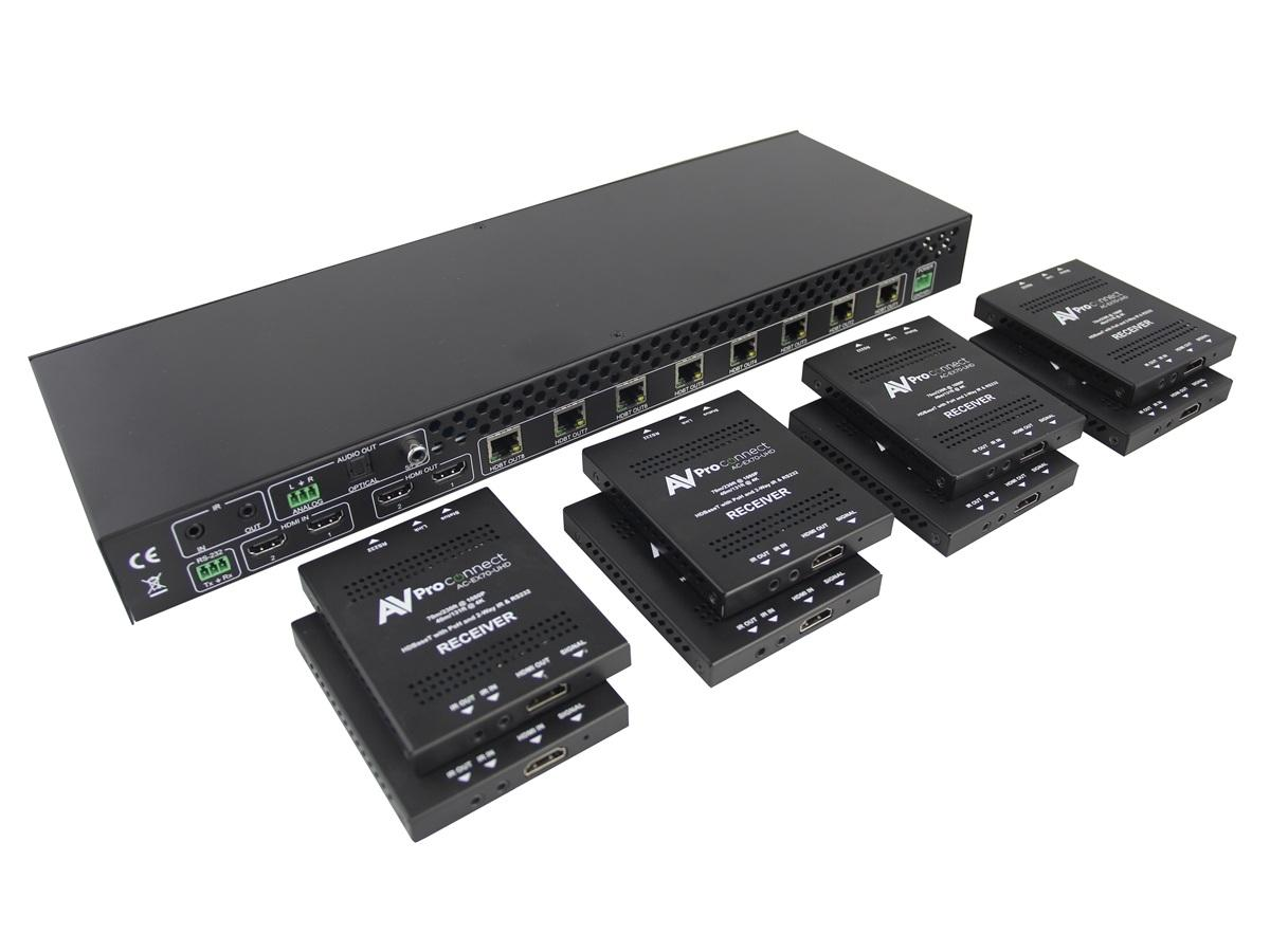 AVPro Edge AC-DA210-HDBT-KIT 2 In/10 Out HDMI Amplifier w HDBaseT/Receivers