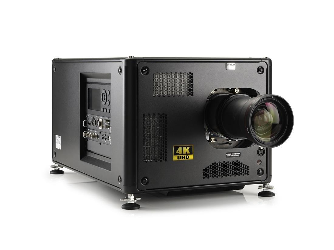Barco R9013100BT HDX-4K14 13000 lumens 4K UHD 3-chip DLP projector with Lens and Stack Frame